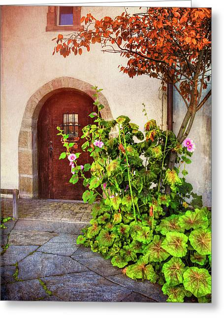 Charming Old Door In Basel  Greeting Card