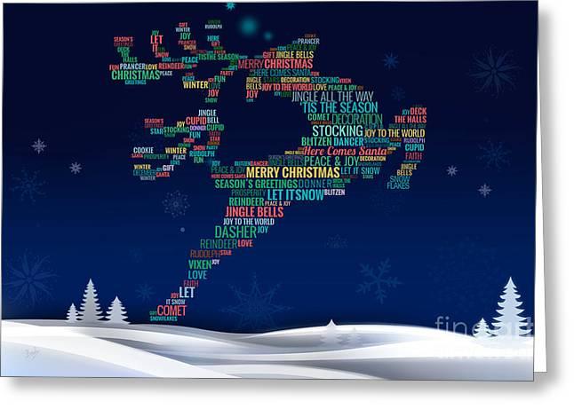 Charming Reindeer Greeting Card by Bedros Awak