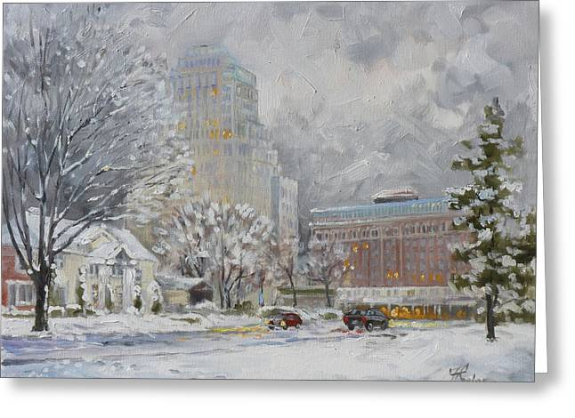 Chase Park Plaza In Winter, St.louis Greeting Card