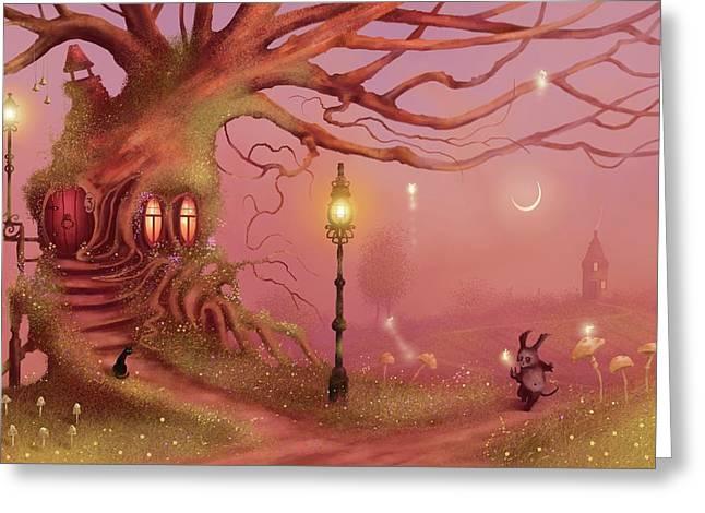 Chasing Fairies Greeting Card