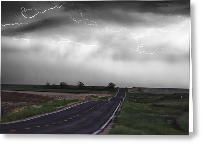 Chasing The Storm - Bw And Color Greeting Card by James BO  Insogna