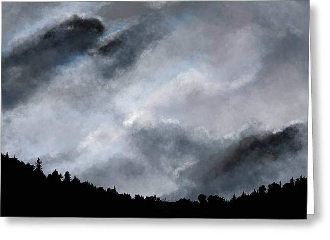 Greeting Card featuring the digital art Chasing The Storm by Mark Taylor