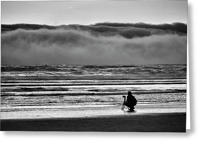 Chasing Tide And Light Greeting Card