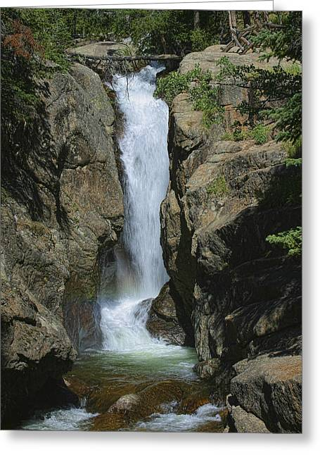 Chasm Falls Off Old Fall River Road Greeting Card