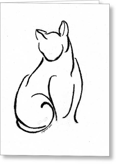 Chat Un Greeting Card by Caprice Scott