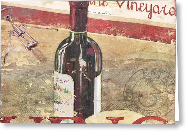 Chateau Cabernet Greeting Card by Paul Brent