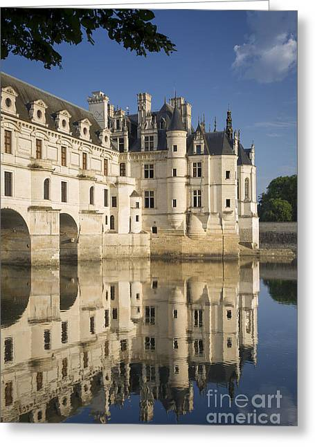 Chateau Chenonceau Morning Greeting Card