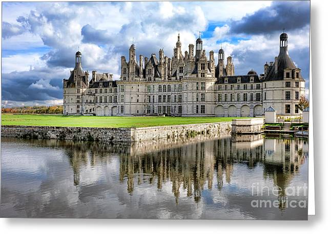 Chateau De Chambord Greeting Card by Olivier Le Queinec
