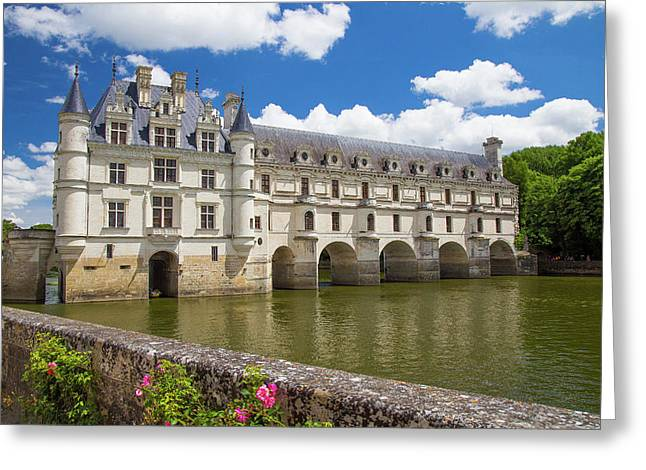 Chateau De Chenonceau In France Greeting Card
