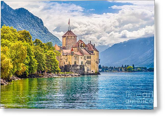 Chateau De Chillon Greeting Card by JR Photography