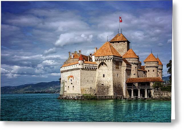 Chateau De Chillon Montreux Switzerland  Greeting Card