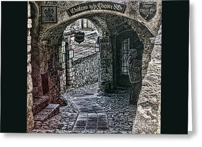 Chateau De La Chevre D'or Greeting Card by Tom Prendergast