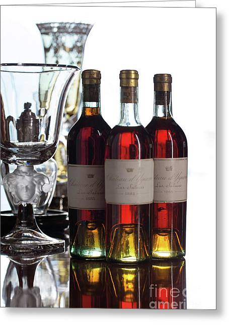Chateau D'yquem, Vintage 1882, Sauternes Greeting Card by French School