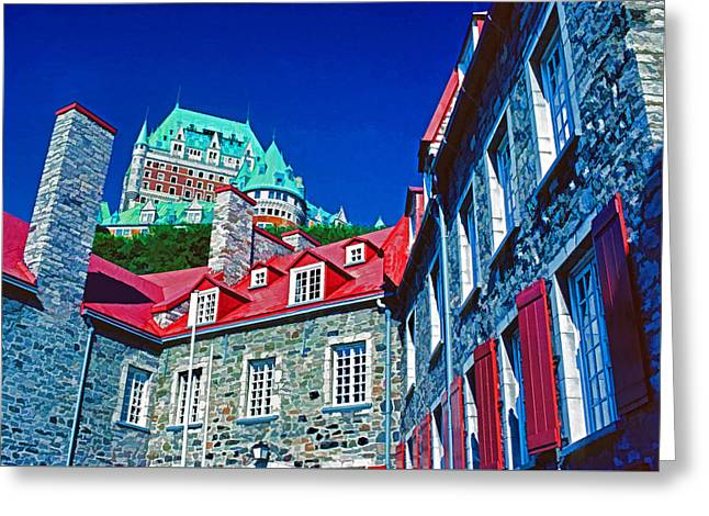 Chateau Frontenac Greeting Card by Dennis Cox