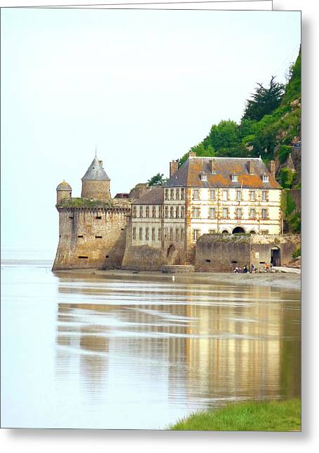 Chateau On Mont St-michel Greeting Card