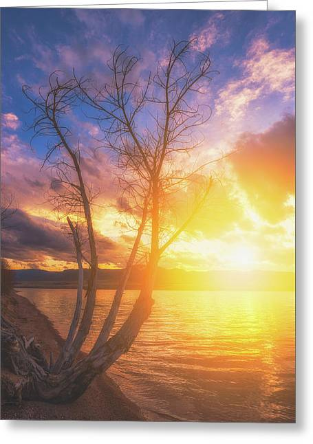 Greeting Card featuring the photograph Chatfield Lake Sunset by Darren White