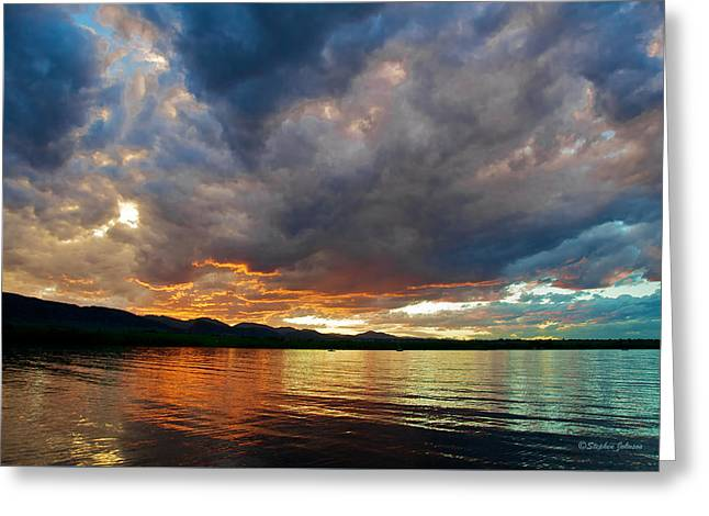 Chatfield Technicolor Sunset Greeting Card