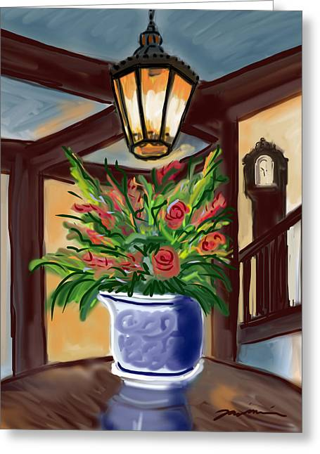 Chatham Bars Inn Table Arrangement Greeting Card by Jean Pacheco Ravinski