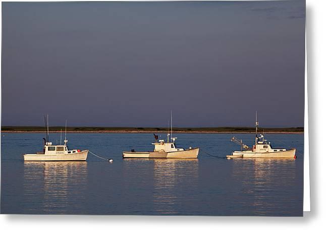 Chatham Bay Greeting Card by Nick  Shirghio