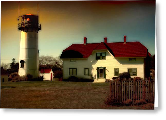 Chatham Lighhouse Greeting Card by Gina Cormier