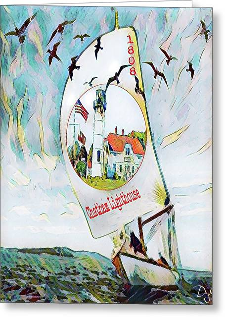 Chatham Lighthouse Cape Cod Greeting Card
