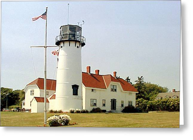 Greeting Card featuring the photograph Chatham Lighthouse by Frederic Kohli