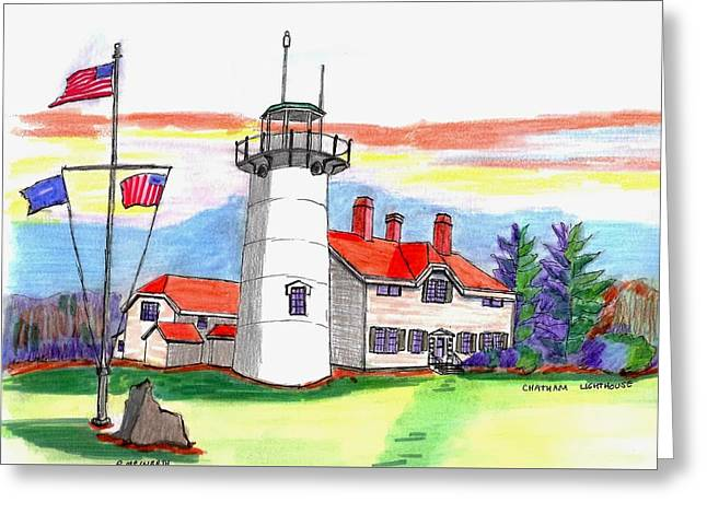 Chatham Lighthouse Greeting Card by Paul Meinerth