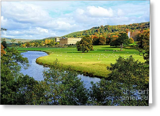 Chatsworth House View Greeting Card