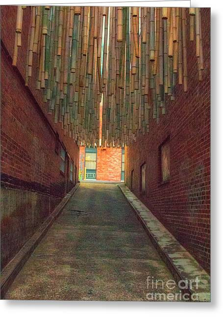 Chattanooga Alley Greeting Card by Geraldine DeBoer