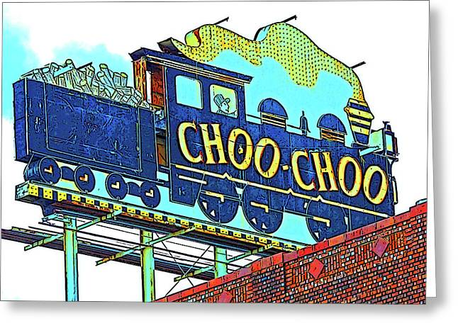 Chattanooga Choo Choo Sign On A Sunny Day Greeting Card by Marian Bell