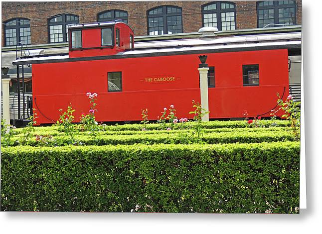 Chattanooga Choo Choo - The Caboose Greeting Card by Marian Bell