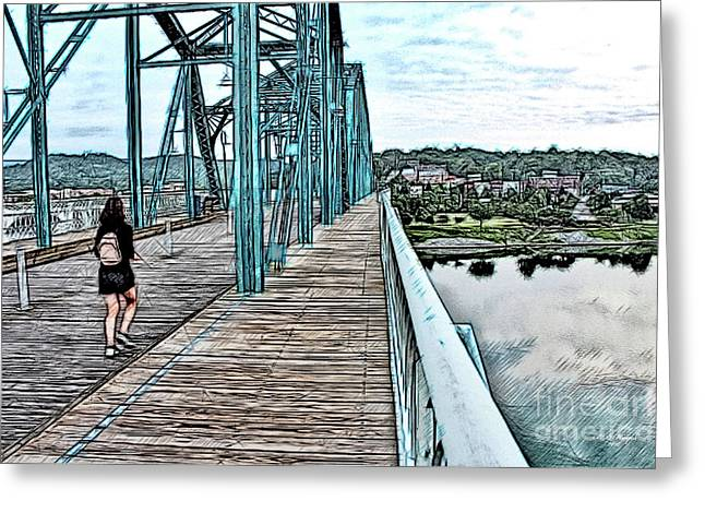 Chattanooga Footbridge Greeting Card