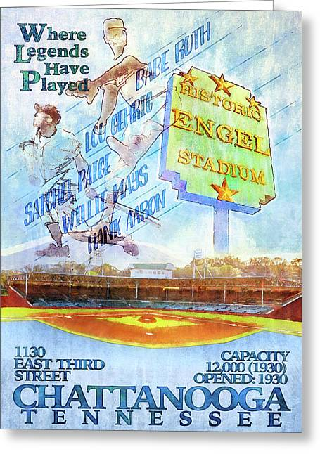 Chattanooga Historic Baseball Poster Greeting Card by Steven Llorca