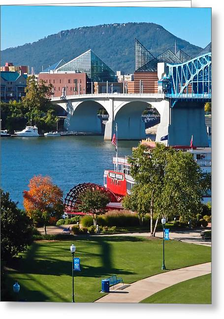 Riverboats Greeting Cards - Chattanooga Landmarks Greeting Card by Tom and Pat Cory