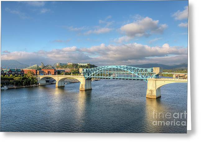 Chattanooga Market Street Bridge I Greeting Card by Clarence Holmes