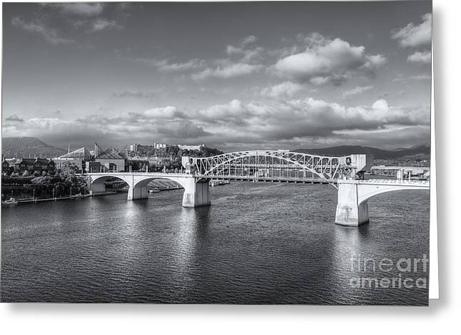 Chattanooga Market Street Bridge II Greeting Card by Clarence Holmes