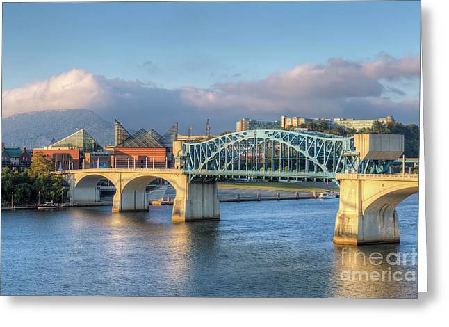Chattanooga Market Street Bridge IIi Greeting Card by Clarence Holmes
