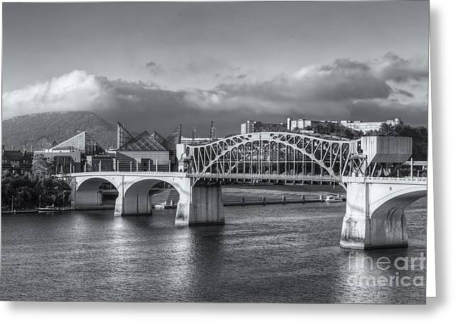 Chattanooga Market Street Bridge Iv Greeting Card by Clarence Holmes