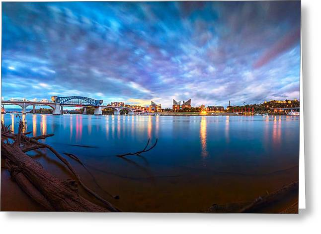 Chattanooga Riverfront At Dawn  Greeting Card