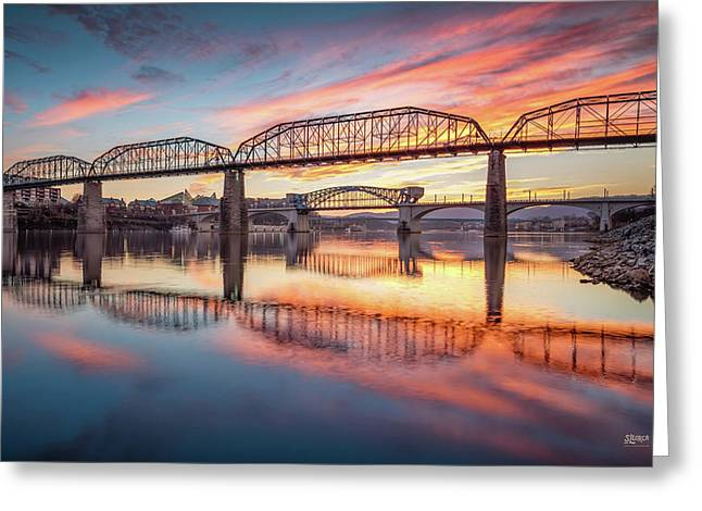 Chattanooga Sunset 5 Greeting Card