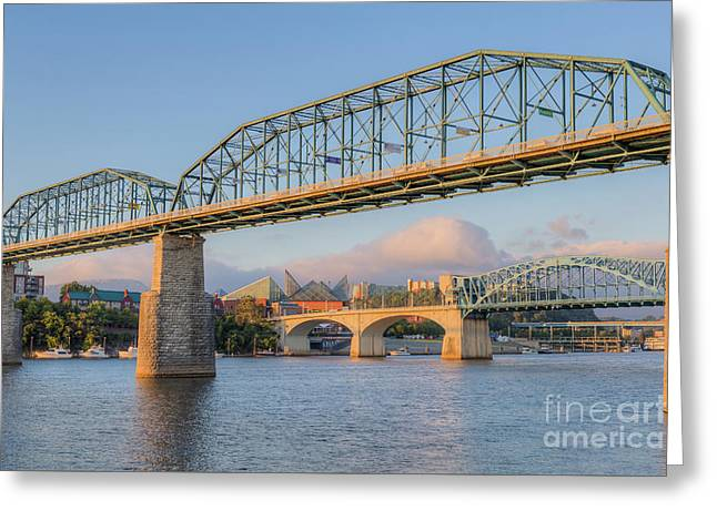 Chattanooga Tennessee River Bridges I Greeting Card