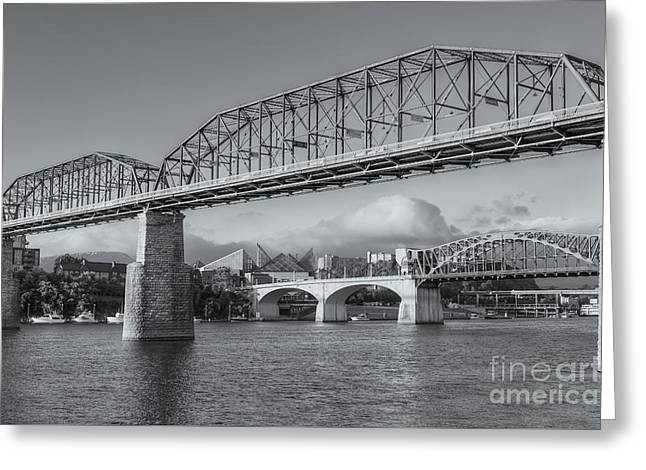 Chattanooga Tennessee River Bridges II Greeting Card by Clarence Holmes