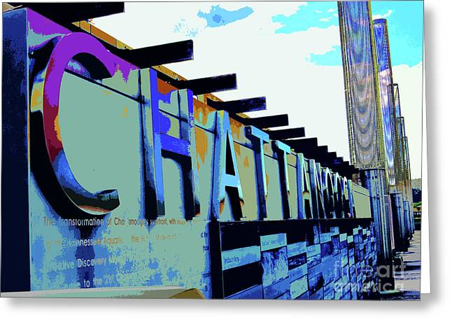 Chattanooga Tennessee Sign Greeting Card