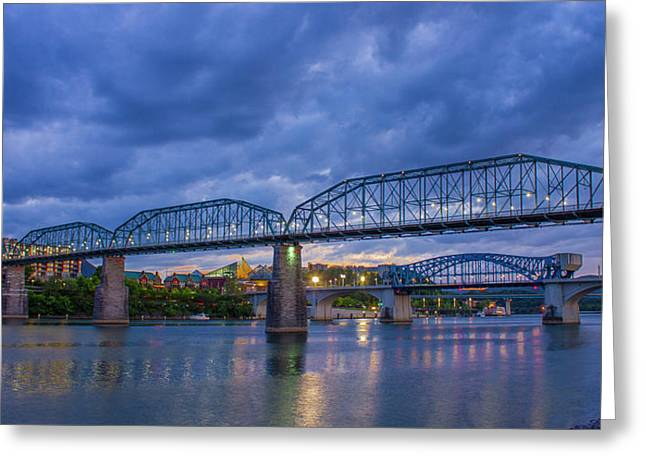 Chattown Portal Walnut Street Pedestrian Bridge Art Greeting Card by Reid Callaway