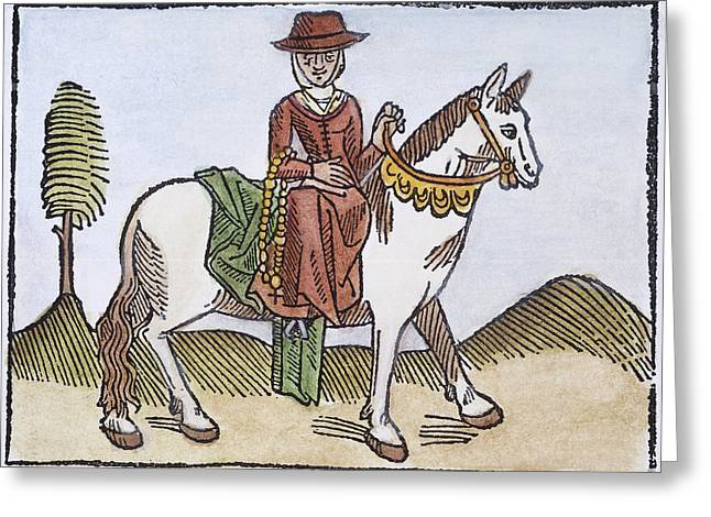 Chaucer: Wife Of Bath, C1484 Greeting Card