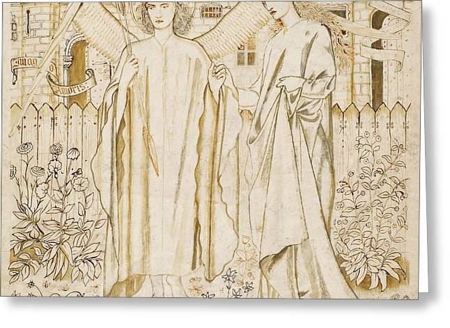 Chaucers Legend Of Good Women Amor And Alcestis  Greeting Card by Edward Burne-Jones