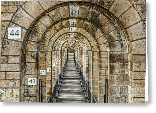 Chaumont Viaduct France Greeting Card