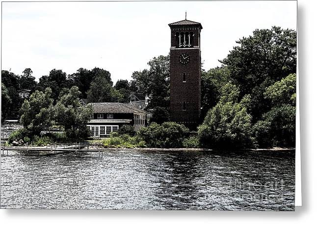 Chautauqua Institute Miller Bell Tower 2 With Ink Sketch Effect Greeting Card