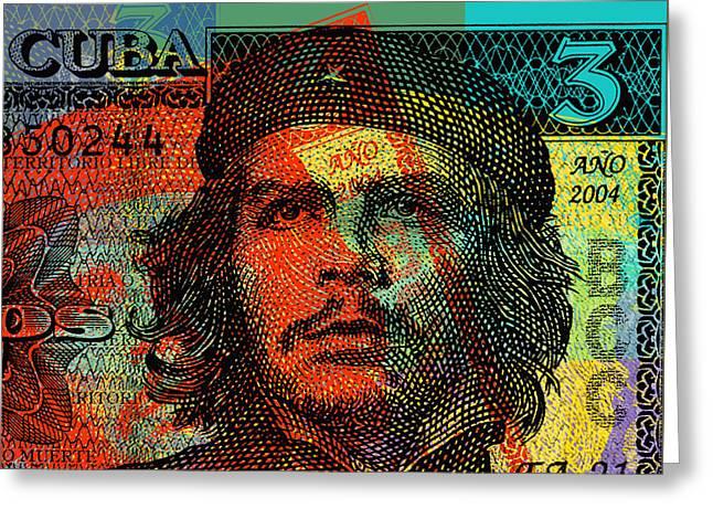 Che Guevara 3 Peso Cuban Bank Note - #1 Greeting Card