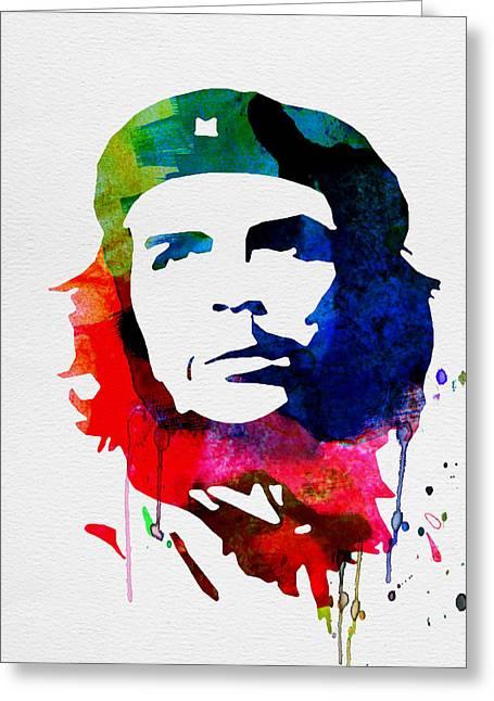 Che Guevara Watercolor 2 Greeting Card by Naxart Studio